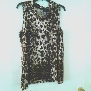 New Direction Animal Print Sleeveless Top